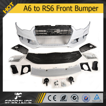 Jc Auto Parts Abs A To Rs With Chrome Guattro Grill Front Bumper - Audi a6 parts