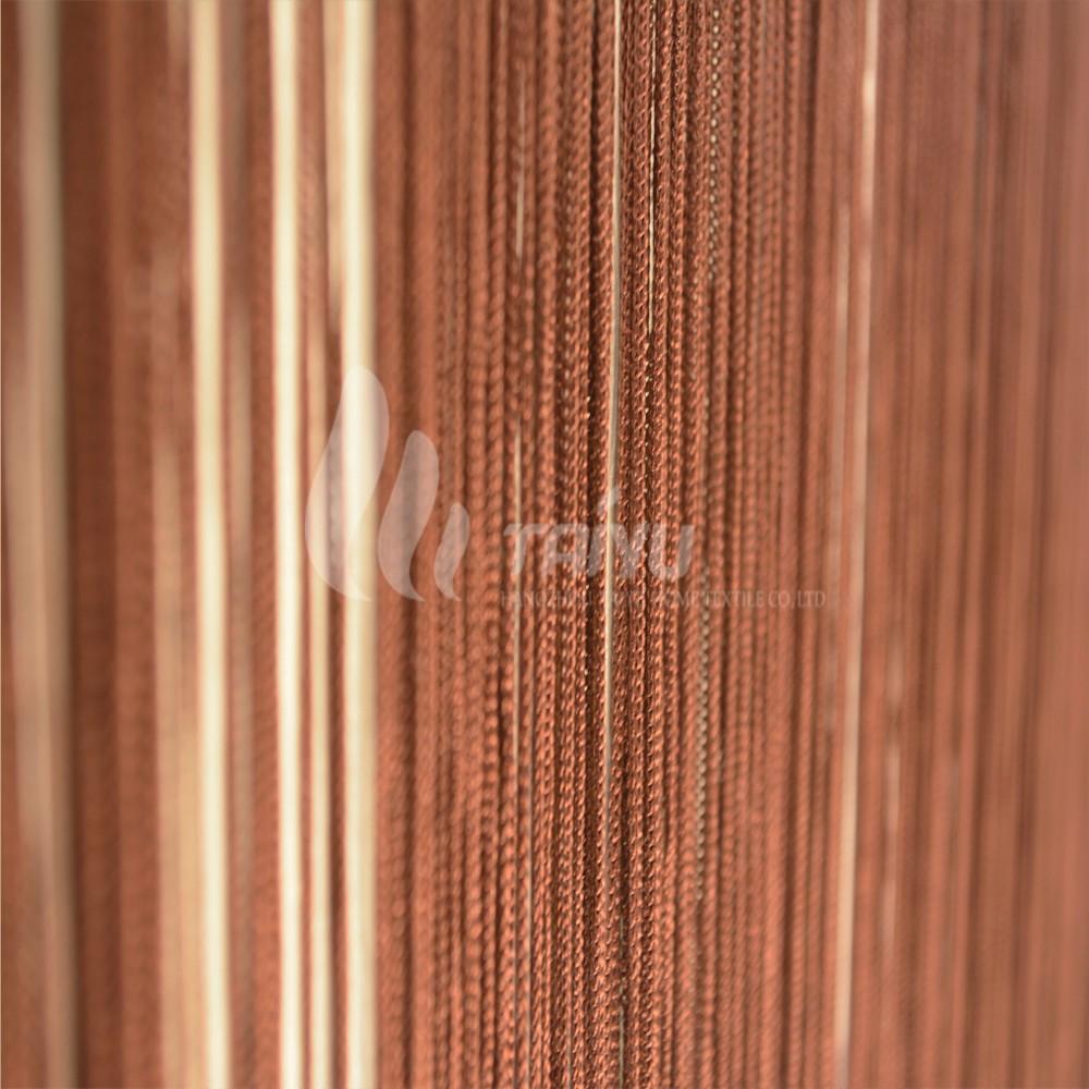 Bruin rustig en stabiel stijl geweven koord gordijn gordijn ...