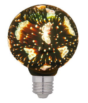 Decorative for Home Christmas holiday party wedding 3D Firework LED Edison bulb