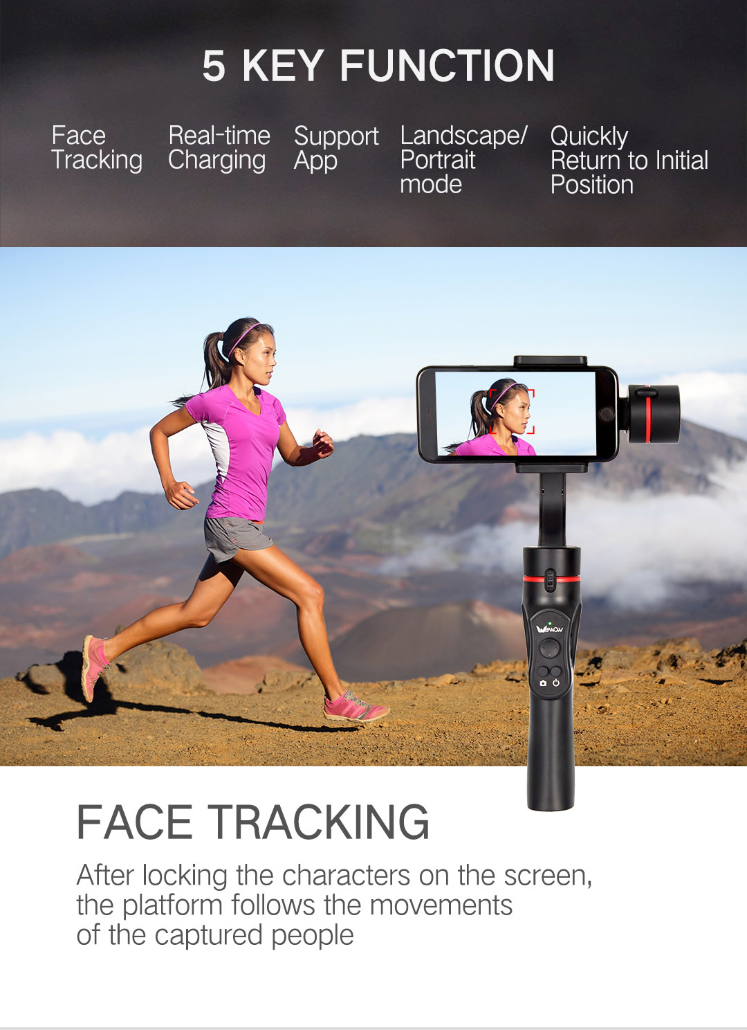 3 Axis Gimbal Stabilizer for Smartphone