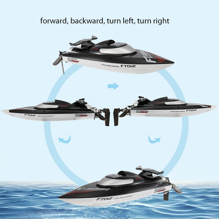 Feilun 2.4G 4CH Brushless RC Boat High Speed of 45km/h RC Boat with Water Cooling System Toys Fei Lun FT012 RC Racing Boats