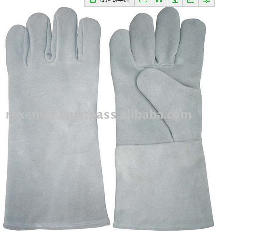 heavy duty leather palm welding glove industrial leather hand gloves