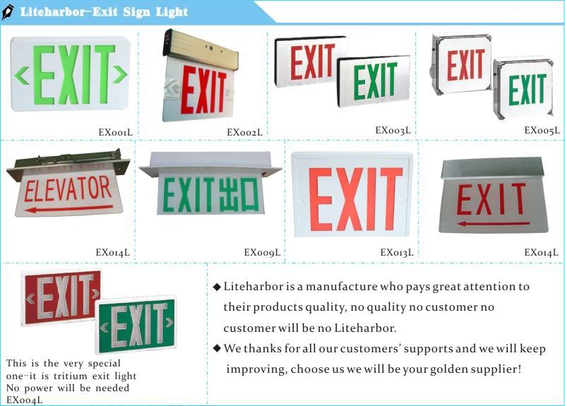 Led Exit Sign And Incandescent Emergency Light Led Indicator Light ...