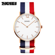 Elegant Luxury Brand Skmei 1181 Unisex leather Quartz Watch Japan movt analog watches Colorful Relojes New design Jam tangan