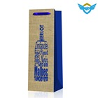 fancy fashionable new design factory manufacturing handle bottle paper bag