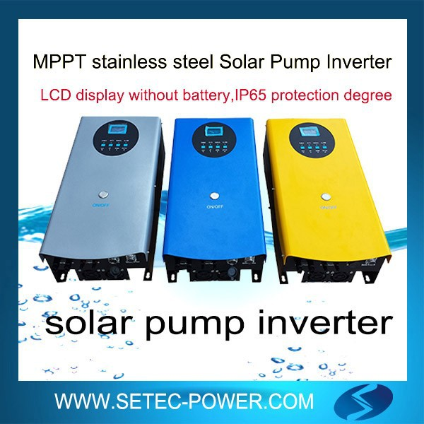 automatic solar pump inverter with MPPT,pump inverter remote control