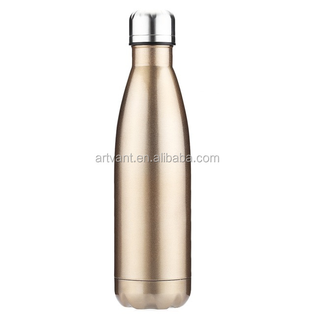 6 Colors Outdoor Water Bottle Cycling Camping Bicycle Sports Stainless Steel Water Bottle Cola Shape Thermos Vacuum Flask