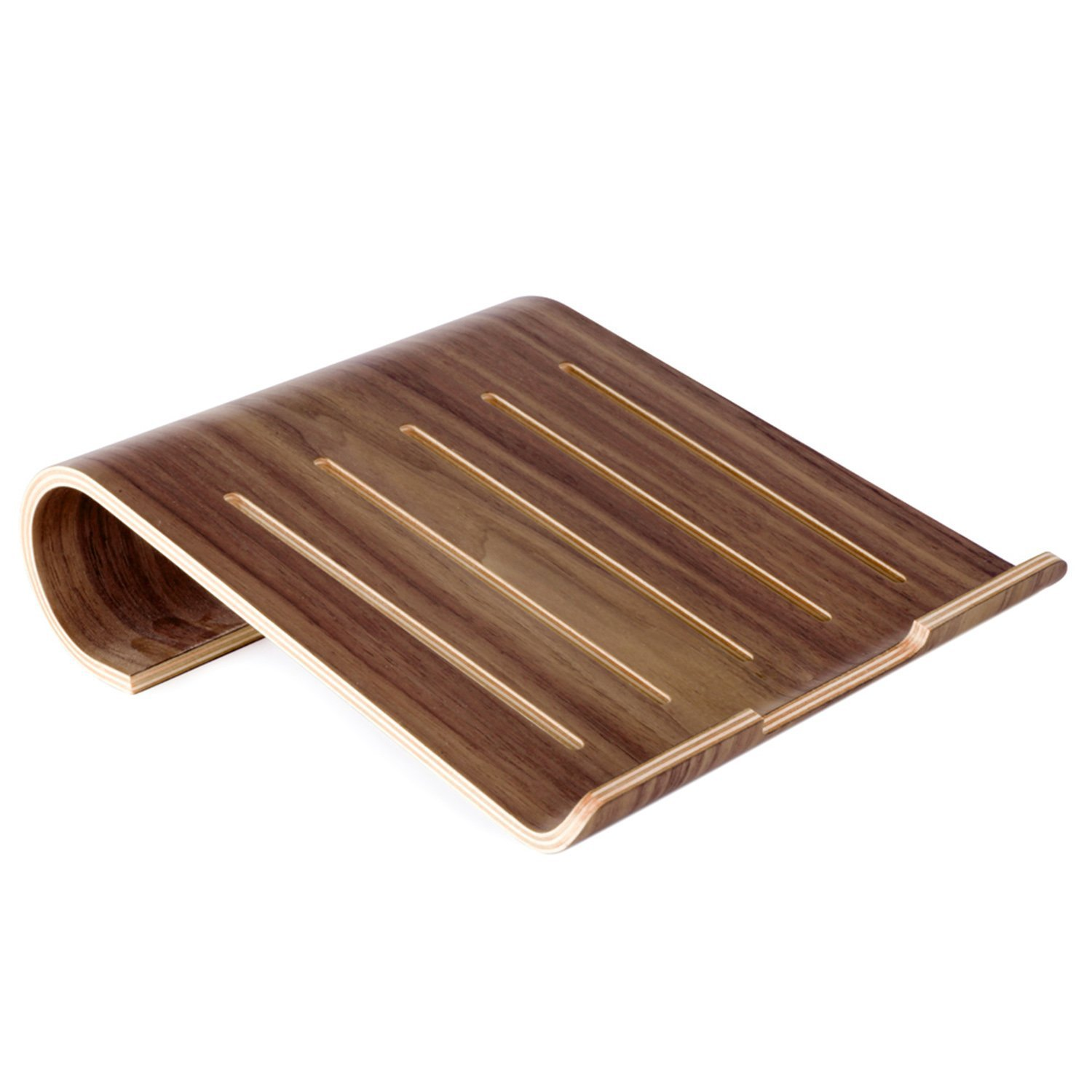 Wood Laptop Stand, VIMVIP® Wooden Laptop Stand Holder for Macbook Air Macbook Pro iPad Pro Surface Pro& Other Laptop Notebook (Natural)