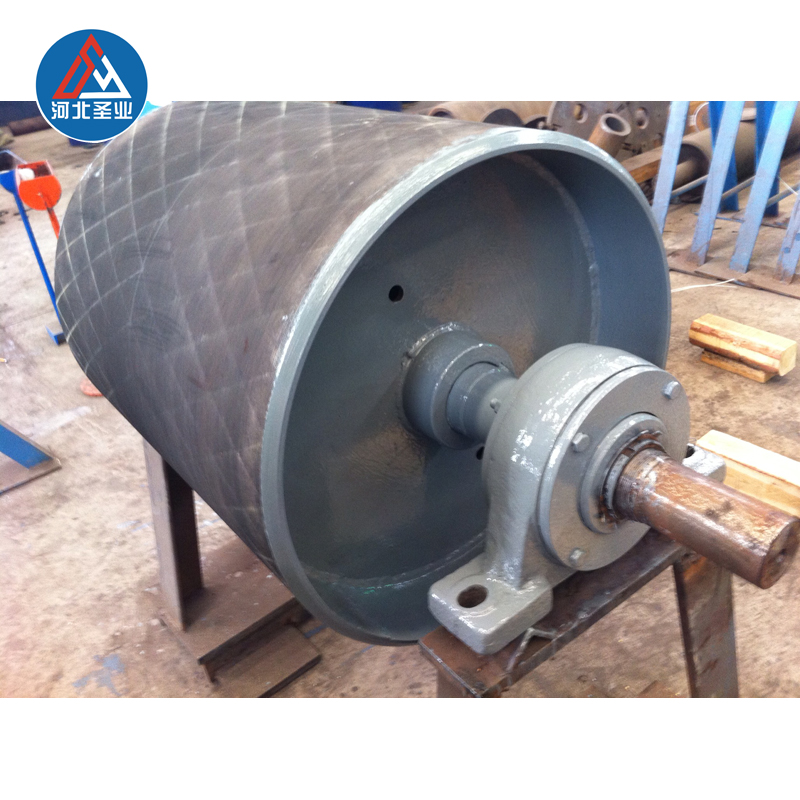conveyor belt rubber coated drive pulleys with motor