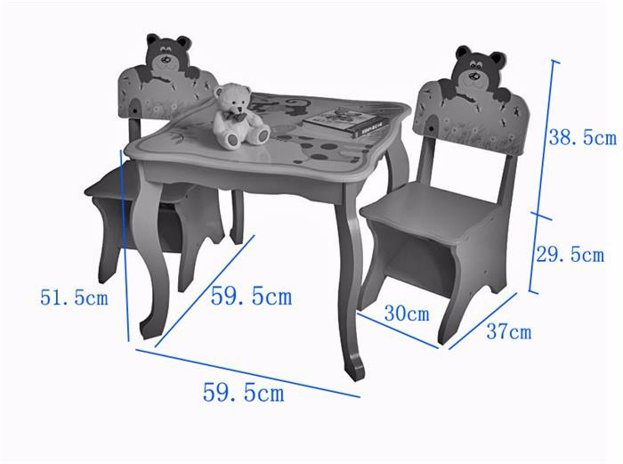 Children furniture sets dining or learning wooden cheap table chair