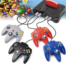 Retro Classic 64 N64 Controller,Wired Controller Gamepad Joystick Voor N64 Nintendo 64 Console Video Games System Black