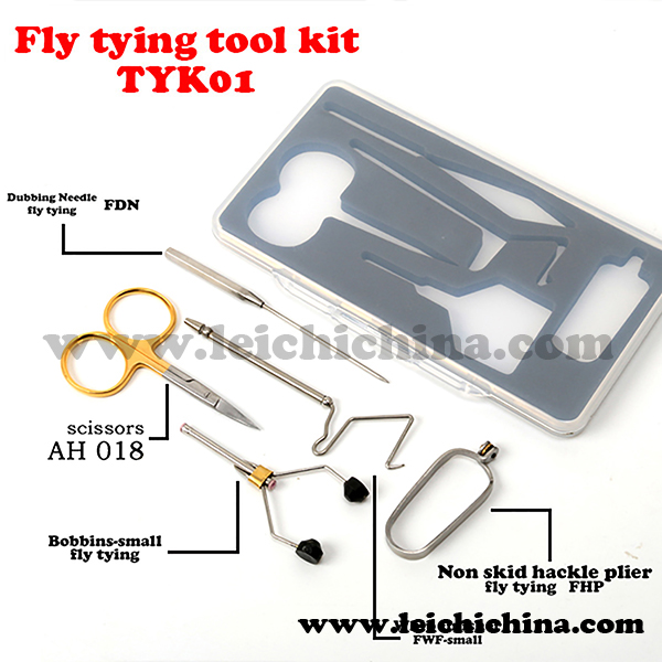 fly tools 5 type a set of Wholesale fly tying fishing tool kit