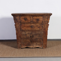 chinese antique living room furniture reclaimed old elm 3 drawers and 2doors sideboard cabinet