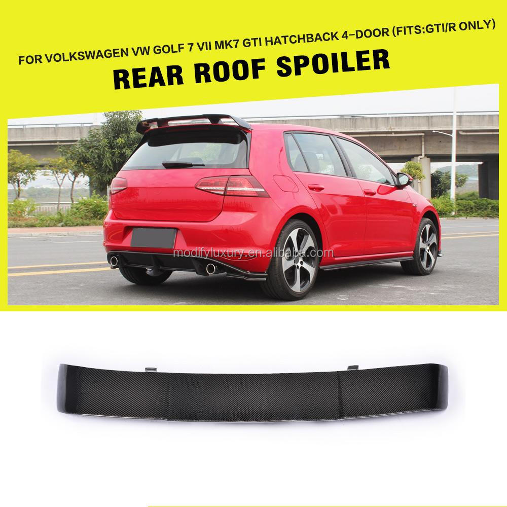 RZ Style Carbon Fiber Roof Spoiler for Volkswagen VW GOLF 7 VII MK7 GTI Hatchback