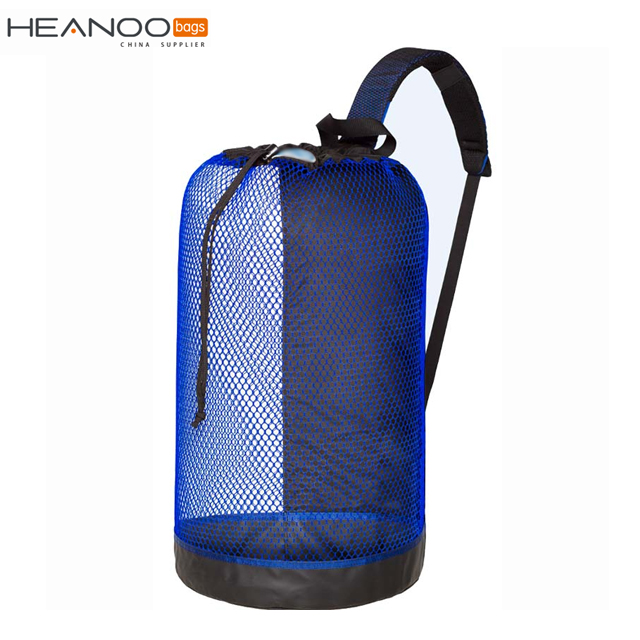 Durable scuba accessories drawstring mesh underwater diving bag