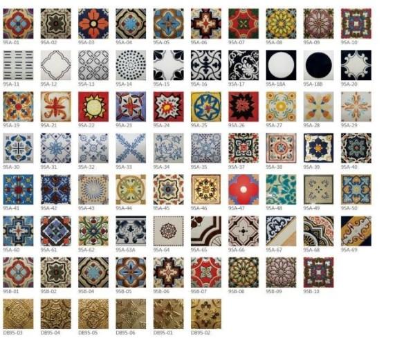 Encausto con differenti disegni patchwork fatti a mano for Piastrelle patchwork