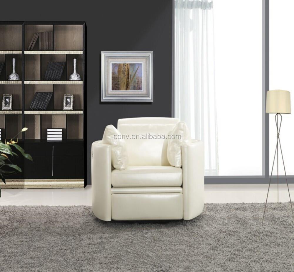 Salon moderne ronde bascule fauteuil inclinable avec repose pieds canap sa - Fauteuil salon moderne ...