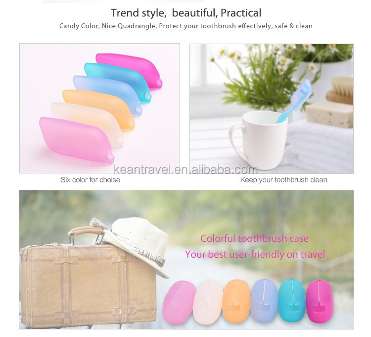 BPA Free Travel Accessory Silicone Toothbrush Case travel set toothbrush accessory
