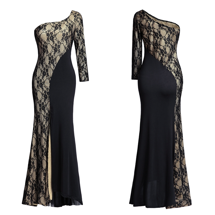 Latest Designs Sexy Long Sleeve Lace Women Maxi Dress