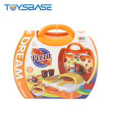 22 Pcs Kids Pizza Suitcase Toy Kitchen Playset Pretend Play Toys
