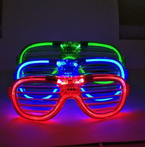 Party Supplies Decoration glowing glasses Fashion Shutters Shape LED Flashing Glasses Light up kids toys
