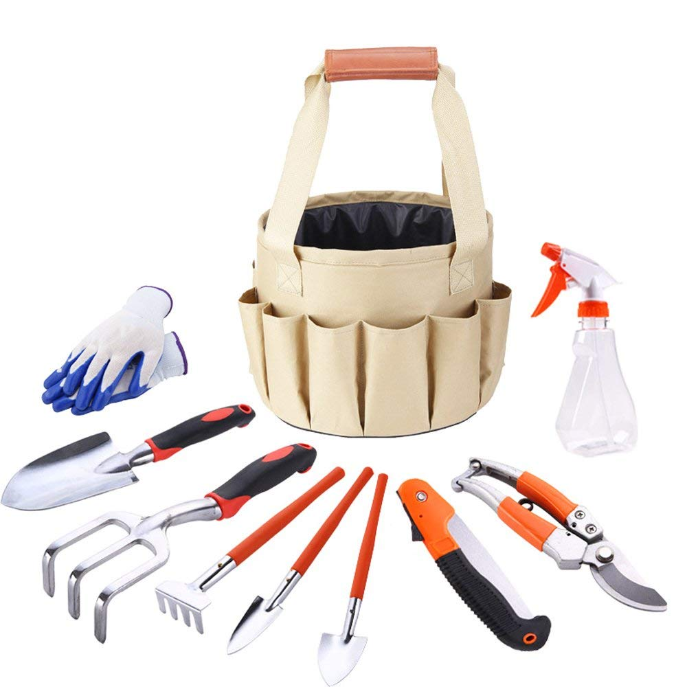 Garden Hand Tools Uxcell 3 In 1 Set Hollow Out Shaped Wooden Handgrip Black Metal Rake Digging Trowel Plants Cultivator Garden Horticulture Tools