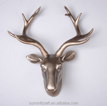 Resin Metallic Color Deer Head Wall Hanging Craft