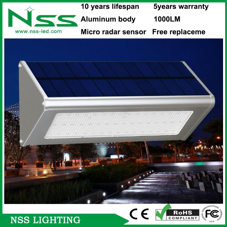 Super bright 5years warranty no need replace battery whole lifetime solar lights for outdoor