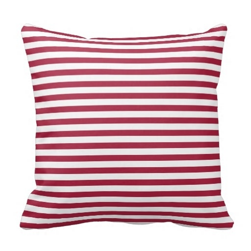 Medium Deep Carmine Classy Stripe Pillow Case (Size: 45x45cm) Free Shipping