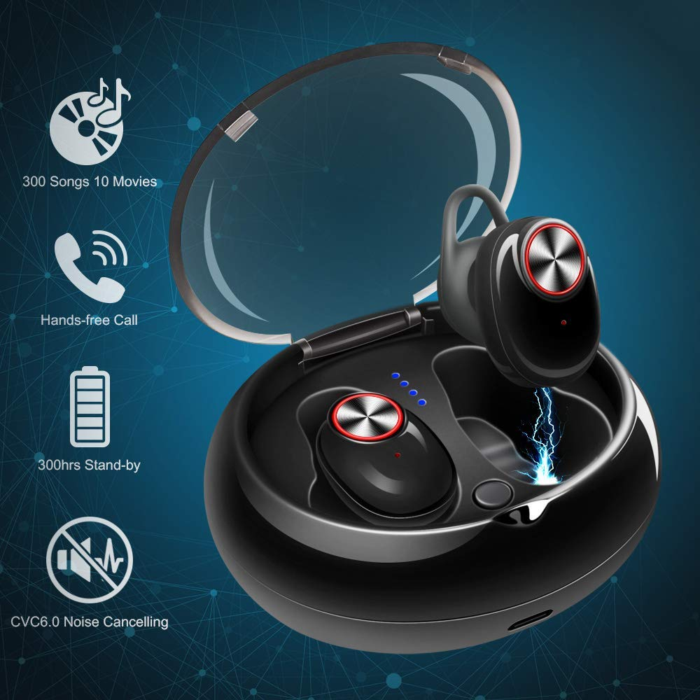 d26f20678fa Get Quotations · Mini Wireless Bluetooth Earbuds Invisible Noise Cancelling  Headphone in-Ear Business Earphone Stereo Sports Car