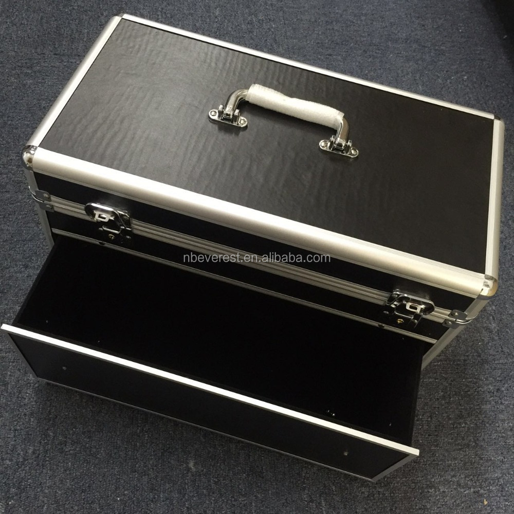 cheap aluminum tool box/case with drawers