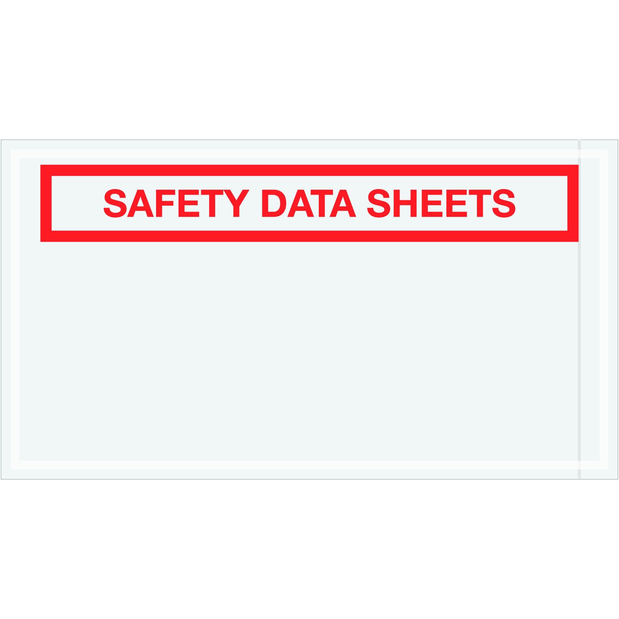 """Tape Logic TLPL494 Safety Data Sheets SDS Envelopes, 5 1/2"""" x 10"""", Clear (Pack of 1000)"""