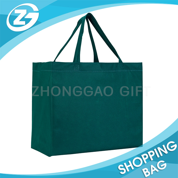 120gsm Big Green Handle pp nonwoven folding shopping bag