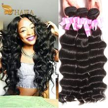 haifa hair Raw Indian natural curly hair extensions 1 piece indian Virgin water wave Hair bundle