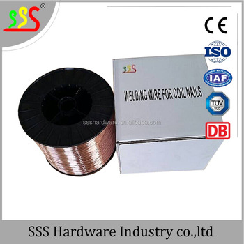 Copper Coated Steel Wire For Welding Coil Nails 0.7mm (skype ...