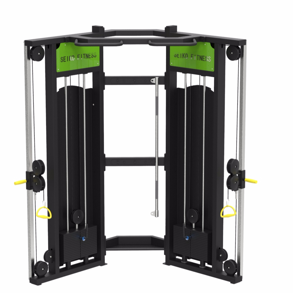Shandong Seiko <strong>fitness</strong> 2018 Commercial gym equipment / Multi functional trainer / cable crossover Dual Pulley System