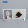 16*30cm Acrylic photo frame with clock glass photo frame wall clock BL-11