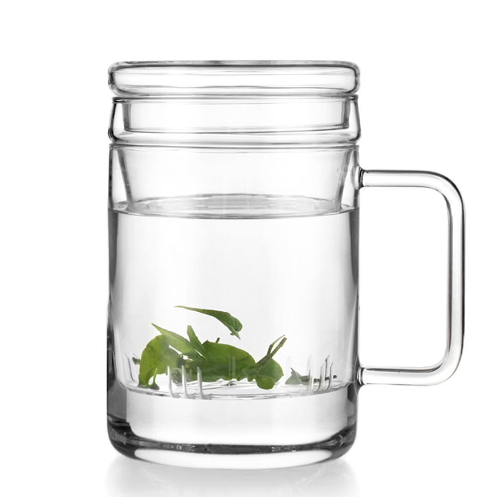 free shipping 400ml eco friendly glass mug w tea infuser heat resistant glass cup infuser lid. Black Bedroom Furniture Sets. Home Design Ideas