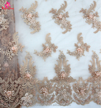 Wedding Dress Fabric.Beaded French Lace Fabric Wedding Dress Embroidery 3d Flowers Bridal Fabric Buy French Lace Bridal Dresses Fabric Wedding Dress Bridal Gown Bridal
