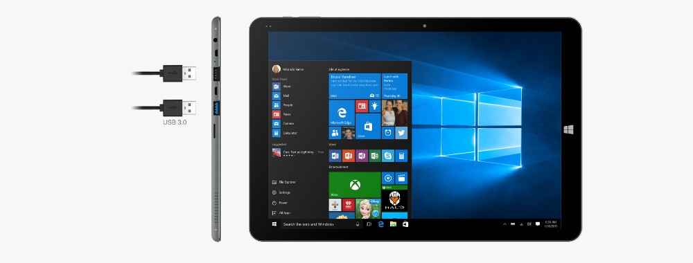Precio de fábrica Chuwi Hi12 Hola 12 pulgadas 2in 1Tablet Pc 64GB Windows10 OS Intel Cherry Trail Z8300