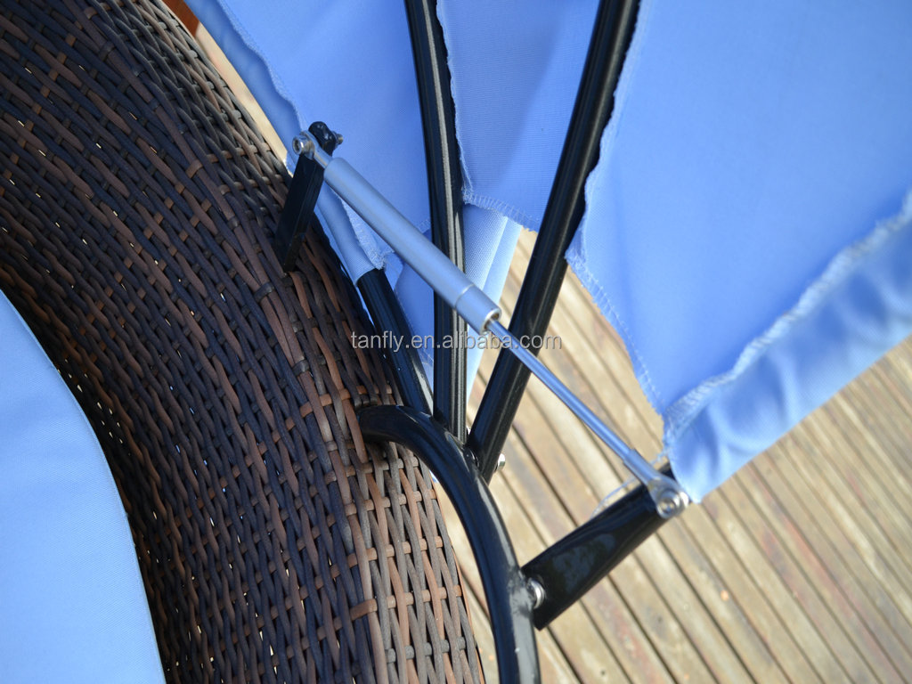 tf 9446 terrasse rattan himmelbett korbm bel pool lounge wetter garten rundes bett gesetzt. Black Bedroom Furniture Sets. Home Design Ideas