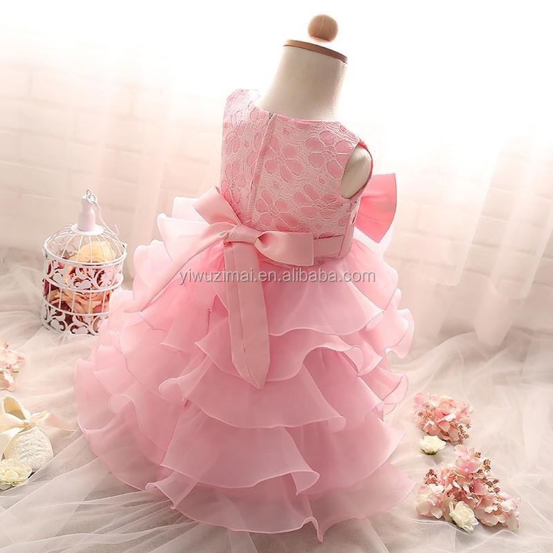 Color Sólido Elegante Flor Del Bebé Vestido Niñas Vestidos De Novia ...
