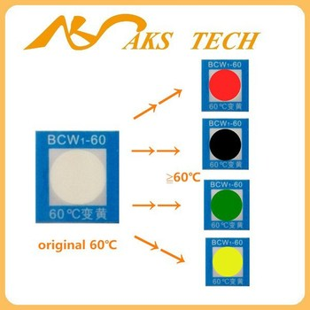 Adhesive Sticker High Temperature Color Changing Heat