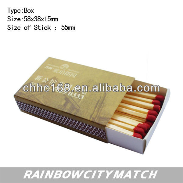 promotional Boxed matches with logo printing