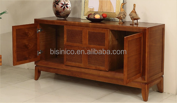 Southeast Asia Series Furniture Side Cabinet Solid Wood Kitchen Cupboard Elegant Design Dining Room
