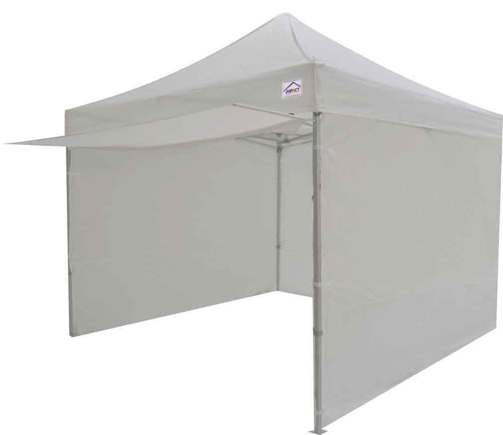 Impact Canopy 10x10 EZ Pop Up Canopy Tent Portable Market Includes Awning and Sidewalls (White)