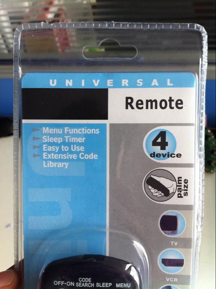 4 Device Mini Universal Remote Controller F-188 Rcu404 403 703 4 ...