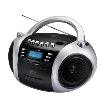 JWIN JX-CD573BLK Portable MP3 CD / CD Player with Cassette and USB / SD / MMC Slot