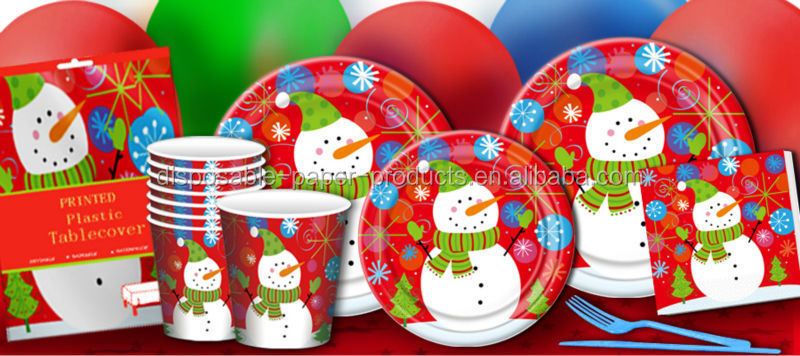 Christmas Disposable Paper Plates Serviettes Napkins Ornaments Party Supplies