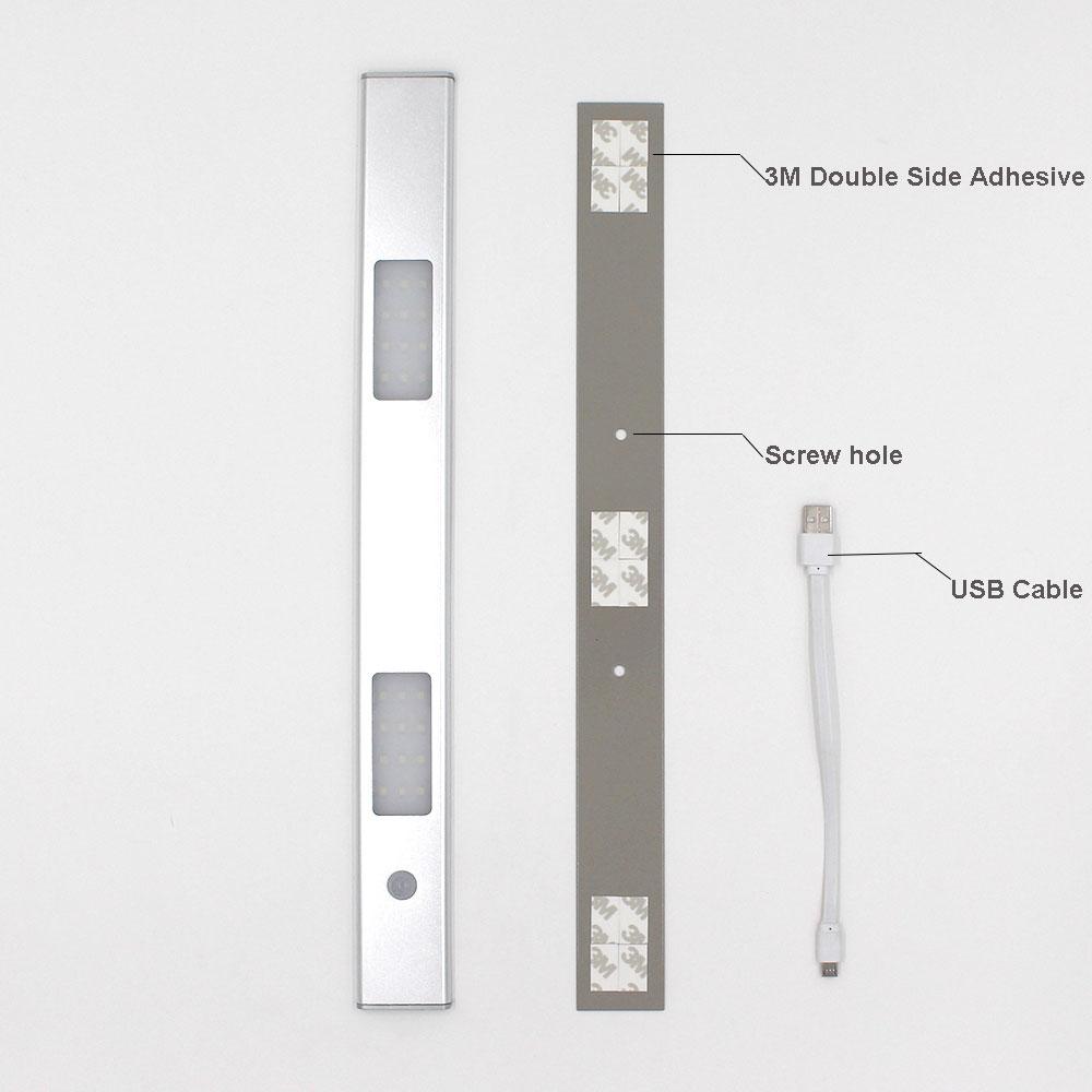 3 M bâton sur Capteur De Mouvement Activé 10 DEL sans Fil Lumière Bar Armoire Cabinet